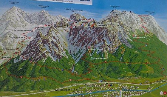 Klettersteig Mittenwald : Karwendel dammkar und mittenwalder klettersteig