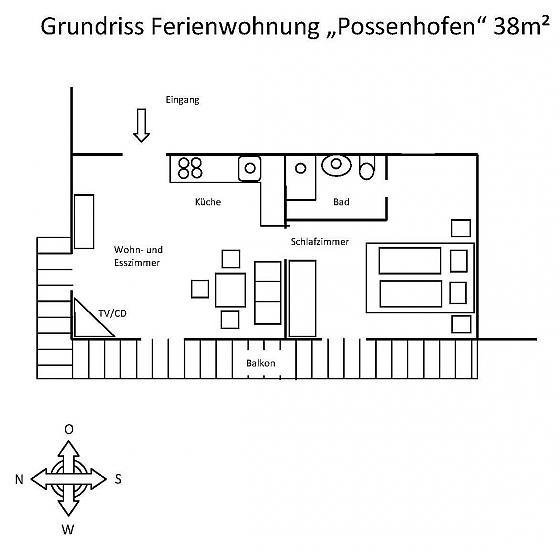Ferienwohnung Possenhofen