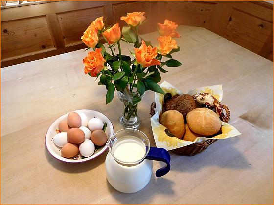 Ferienwohnungen Lettnerhof - Frühstück