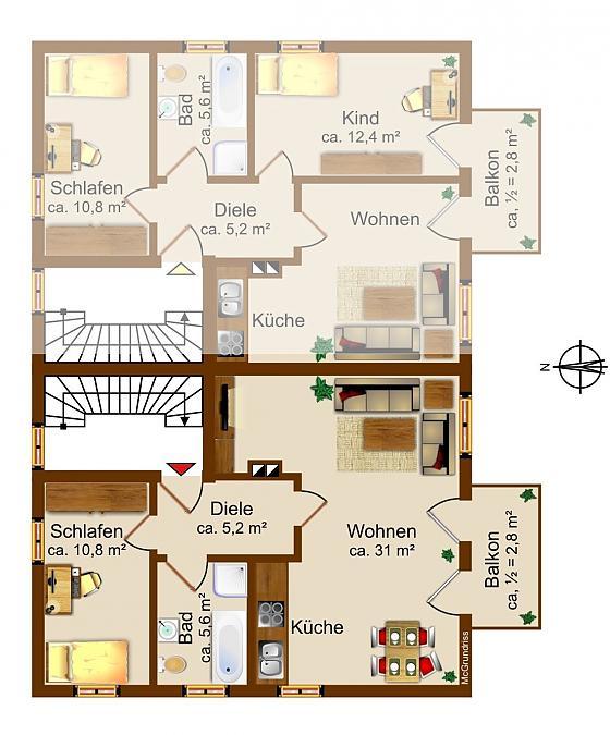 Wohnung im 1. Stock