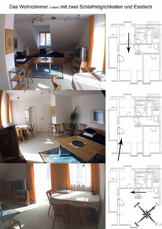 Badezimmer und Schlafzimmer